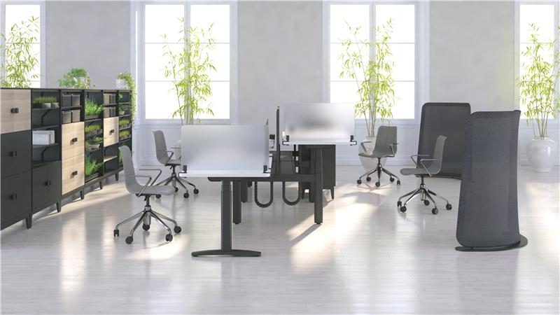 奥美丽升降式办公桌系统:快速升降,办公健康