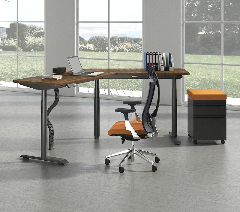 风靡欧美的升降式办公桌,究竟好在哪里?