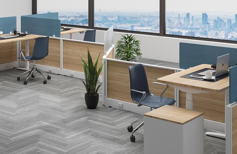 职员办公桌-升降桌