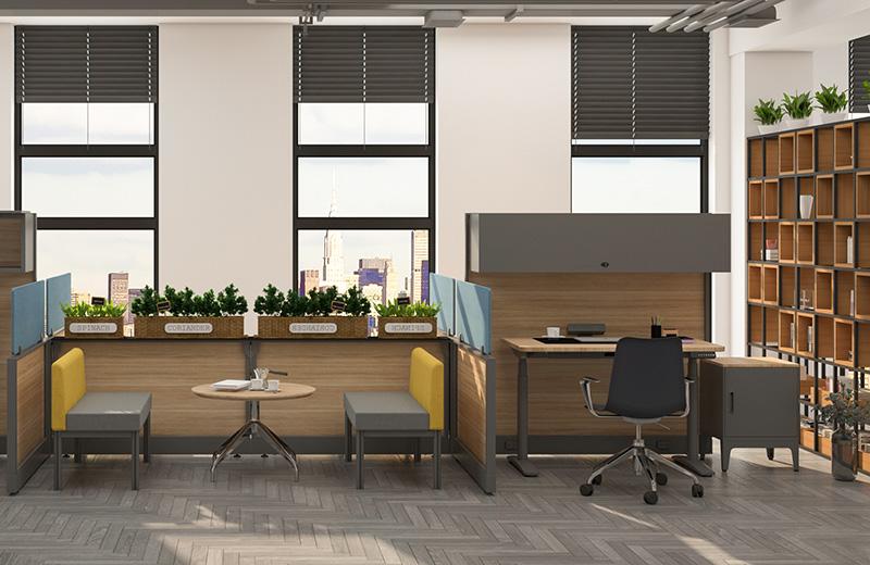 职员办公桌-办公家具解决方案