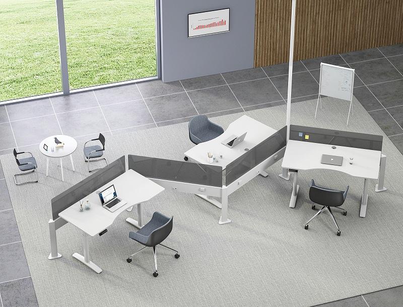 奥美丽升降式办公桌,科技让办公室更健康,更舒适