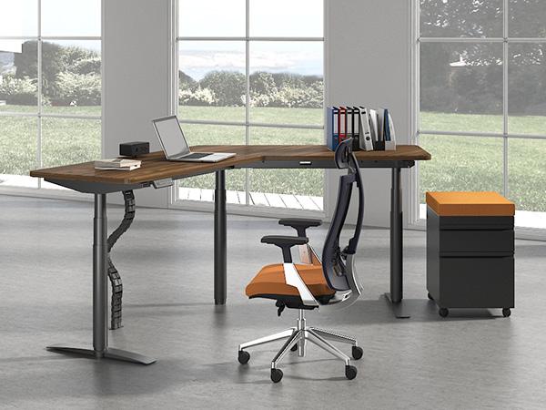 l型升降桌,简约办公家具定制-120度