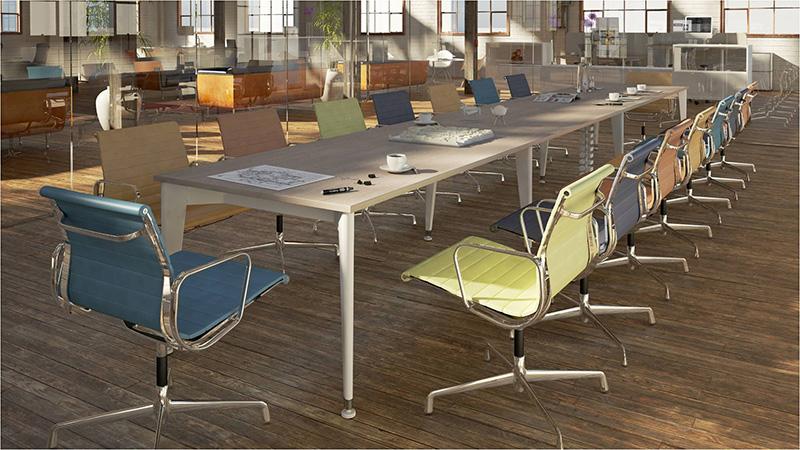 奥美丽扬州海沃机械魔丽系列办公桌案例