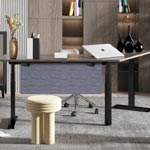 l型升降桌,简约办公家具定制 升降自由