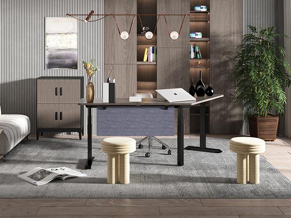 总经理办公桌,l型升降桌,简约办公家具定制,l型办公桌-120度
